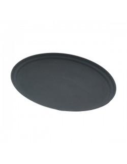 Owalna taca antypoślizgowa Black 68,6 x 56,5 cm - GenWare