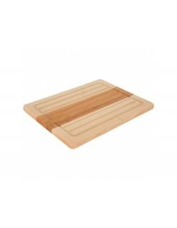 Deska do krojenia drewniana prostokątna Woody 30 x 23 cm DOMOTTI