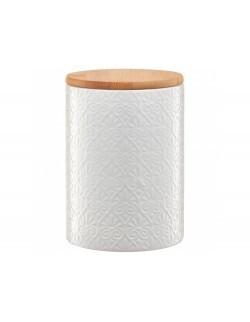 Pojemnik ceramiczny AMBITION Tuvo mozaika z bambusową pokrywką 1110 ml