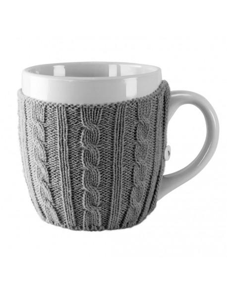 Kubek ceramiczny w sweterku 500 ml - Invotis