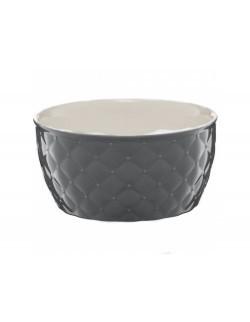 Salaterka pikowana AMBITION Glamour 13,5 cm ciemnoszara