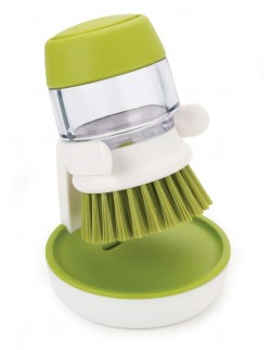 JJ - Szczotka do mycia naczyń z pompką, zielona