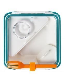 BB - Lunch box BOX APPETIT biało/niebieski
