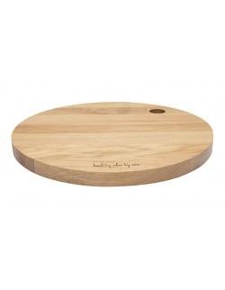 Deska drewniana dębowa okrągla 27cm - HPBA